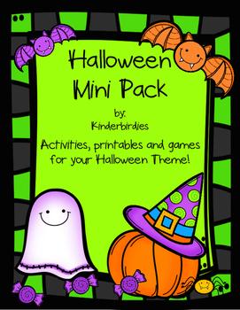 Halloween Mini Pack - Literacy and Math Activities