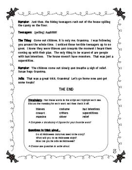 Halloween Mini Play / Reader's Theater for 3-5 ESL students