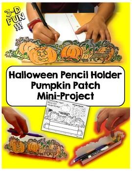 Halloween Mini Project / Desktop Pumpkin Patch Pencil Holder