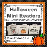 Halloween Mini Readers Freebie!  Pumpkins, Spiders, & Bats Mini Take Home Books!