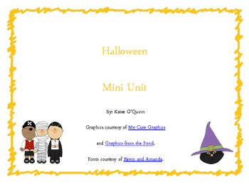 Halloween Mini Unit