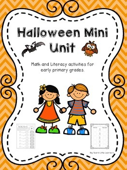 Halloween Mini Unit ~ Math and Literacy activities for Early Primary Grades