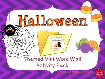 Halloween Mini-Word Wall Activity Pack
