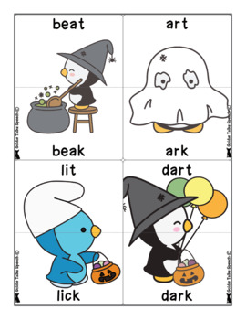 Halloween Minimal Pairs Mix-ups Game | Fronting and Backing | Speech Therapy