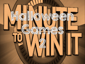 "Halloween ""Minute to Win It"" 2"