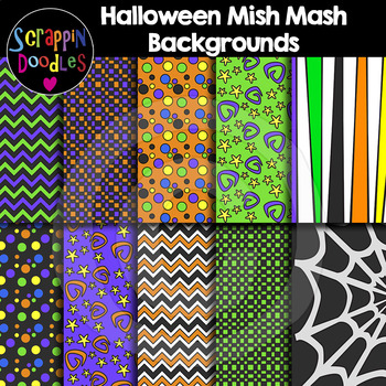Halloween Mish Mash Backgrounds