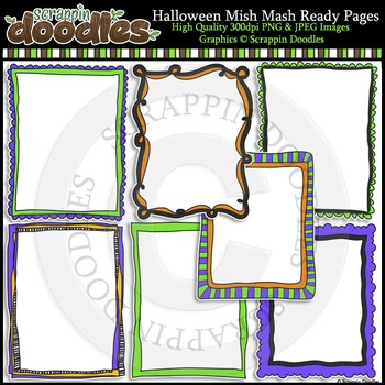 Halloween Mish Mash 8 1/2 x 11 Ready Pages & Frames