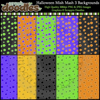 Halloween Mish Mash THREE 12x12 Backgrounds