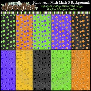 Halloween Mish Mash THREE Backgrounds