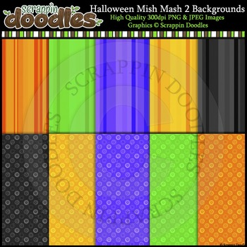 Halloween Mish Mash TWO 12x12 Backgrounds