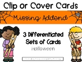 Halloween Missing Addend Clip or Cover Cards