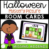 Halloween Missing Addends Boom Cards™ Distance Learning