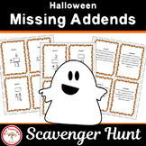 Halloween Missing Addends Scavenger Hunt