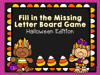 Halloween Missing Letter Board Game