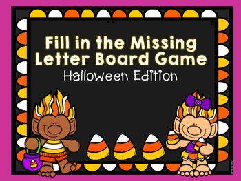 Halloween Missing Letter Board Game