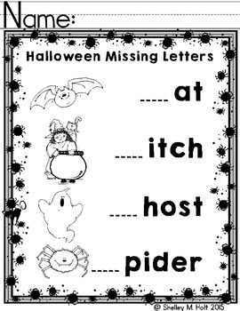 Halloween Missing Letter Fun
