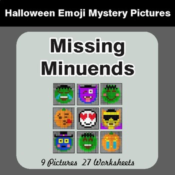 Halloween: Missing Minuends - Color-By-Number Math Mystery Pictures