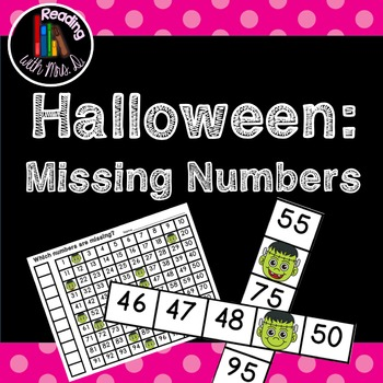 Halloween Missing Number Cards and Worksheets
