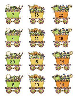 Halloween Missing Number Math Center