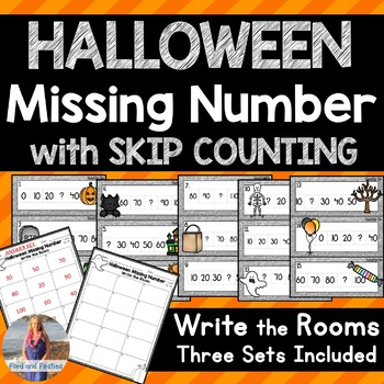 Halloween Math: Missing Number/Skip Counting Write the Rooms