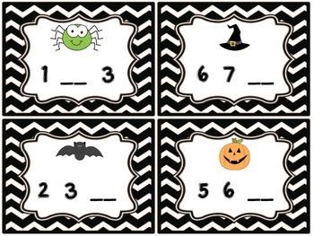 Halloween Missing Numbers