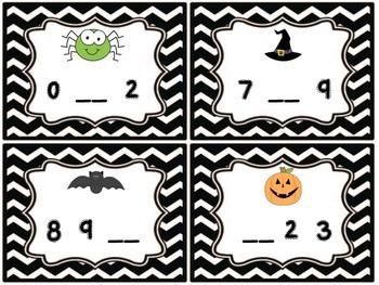 Halloween Missing Numbers