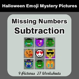 Missing Numbers Subtraction - Color-By-Number Halloween Math Mystery Pictures