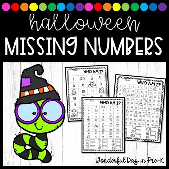 Halloween Missing Numbers: Who Am I?