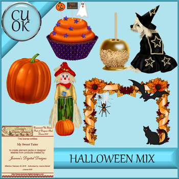 Halloween Mix 1 Clipart - Graphics
