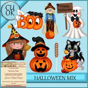 Halloween Mix 2 Clipart - Graphics