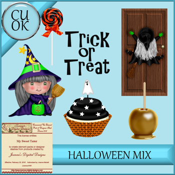 Halloween Mix 3 Clipart - Graphics