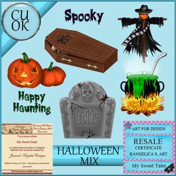 Halloween Mix 4 Clipart - Graphics