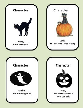 Halloween Creative Writing Activity: Mix-n-Match Story Cards