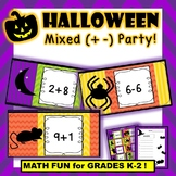 Halloween Mixed (Addition and Subtraction) Card Party and