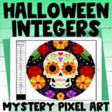 Halloween Mixed Integer Operations Digital Pixel Art Myste