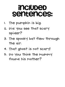 Halloween Mixed-Up Sentences