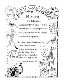 Halloween Mixtures and Solutions