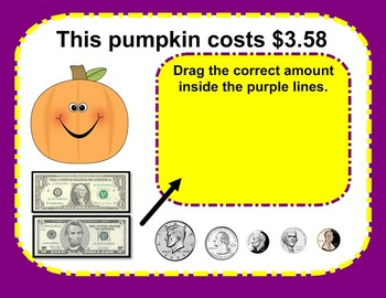SMARTboard Halloween Math: Money