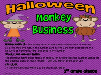 Halloween Monkey Centers