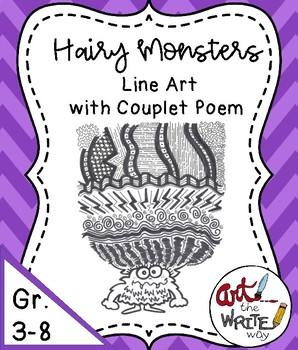 Halloween Monster Art and Writing
