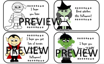 Halloween Monster Cards and Bookmarks