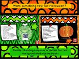 "Halloween: ""Monster Chef"" & ""Little Boo"" Comprehension Bundle"