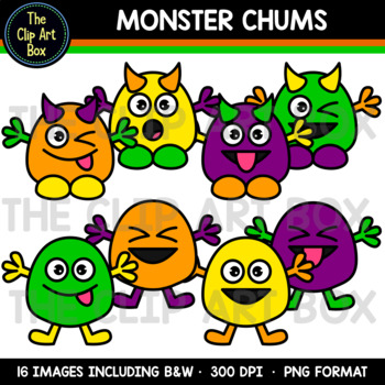 Halloween Monster Chums - Clip Art