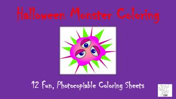 Halloween Monster Coloring