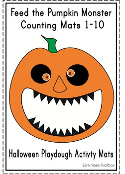 Halloween Monster - Counting Activity Mats