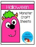 Halloween Monster Craft Sheets