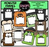 Halloween Monster Frames Clip Art Bundle {Educlips Clipart}