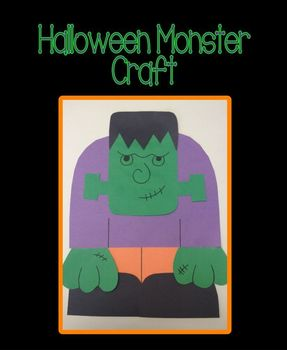 Halloween Monster (Frankenstein) Craft