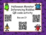 Halloween Monster Inferencing QR code (Common Core aligned)