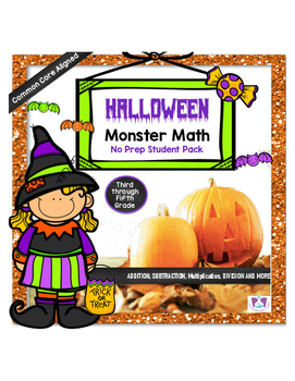Halloween Monster Math Activity Pack